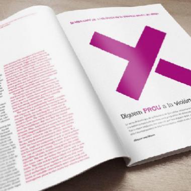 """Diputació de Barcelona - Poster design. """"Dia Internacional per a l'eliminació de la violència envers les dones"""" - Mosaic image"""